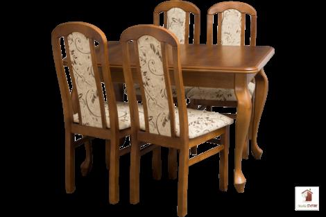 Stół rozkładany prostokątny do jadalni LUDWIK Slim z krzesłami Cezary