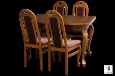 Stół rozkładany prostokątny do jadalni LUDWIK Slim z krzesłami Dar