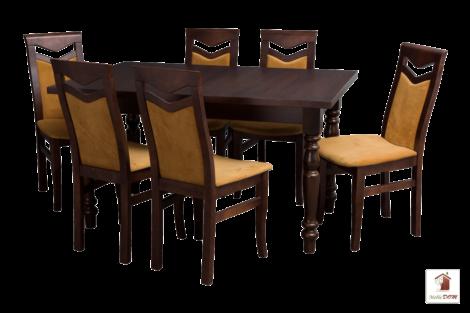 Stół rozkładany prostokątny do jadalni VALENCIA z krzesłami Daniel