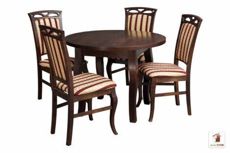 Stół okrągły SWAN102 z krzesłami Lidia