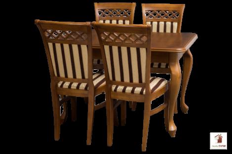 Stół rozkładany prostokątny do jadalni LUDWIK Slim z krzesłami Venezia